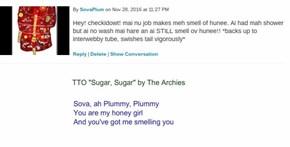 """""""Sova, Sova"""" (TTO """"Sugar, Sugar"""" by The Archies)"""
