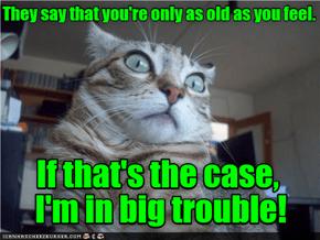 I feel older than I am.