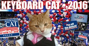 Not Happy With This Year's Presidential Candidates? Vote for Keyboard Cat!