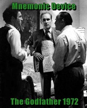 Mnemonic Device   The Godfather 1972