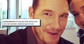 Chris Pratt Keeps Trolling His Followers by Cropping Jennifer Lawrence out of His Pictures