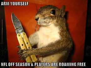 ARM YOURSELF  NFL OFF SEASON & PLAYERS ARE ROAMING FREE