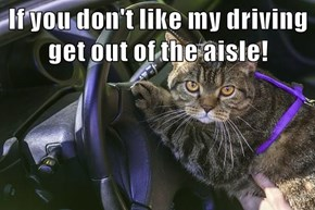 If you don't like my driving get out of the aisle!