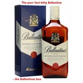 The purr-fect kitty Ballantine                 - the Ballantines box