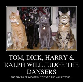 TOM, DICK, HARRY & RALPH WILL JUDGE THE DANSERS