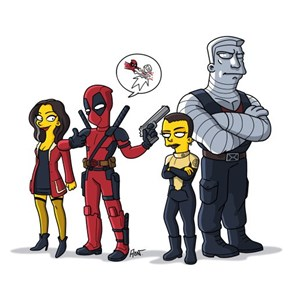 Simpsonized Deadpool