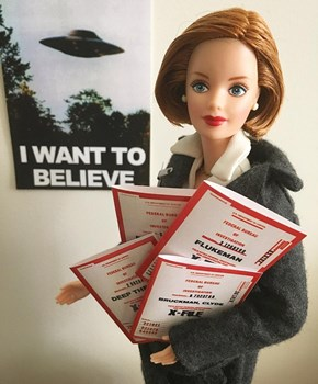Dana Scully Barbie Is Solving 'X-Files' and Looking Fabulous on Instagram