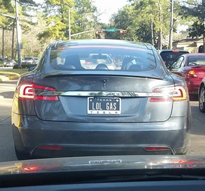 If You Buy a Tesla, You Must Get a Terrible Vanity Plate
