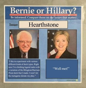Bernie and Hillary on Hearthstone