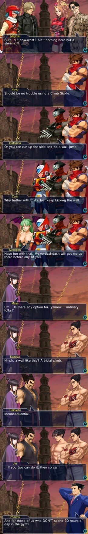 These Project X Zone Characters Argue on the Best Way to Scale a Cliff