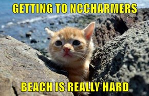 GETTING TO NCCHARMERS  BEACH IS REALLY HARD