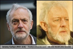 Jeremy Corbyn (M.P, U.K) Totally Looks Like Obi-Wan Kenobi (Alec Guinnss)