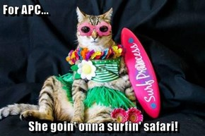 For APC...  She goin' onna surfin' safari!