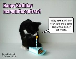 Happy Birthday, maryquitecontrary!