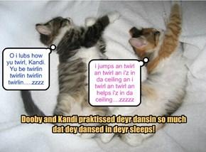 Dooby and Kandi dream ob dansin at da KKPS Balentine Danse!