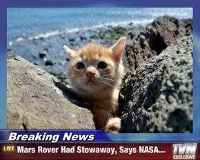Breaking News - Mars Rover Had Stowaway, Says NASA...