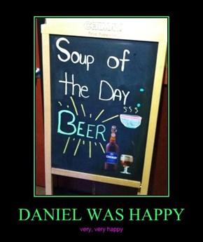 DANIEL WAS HAPPY