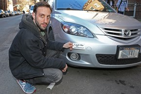 Guy Fed Up With People Who Suck at Parking is Brandishing Cars With Rude Stickers