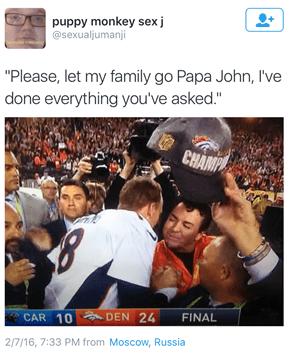 I'm so Tired, Papa John