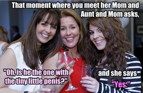 That moment where you meet her Mom and Aunt and Mom asks,