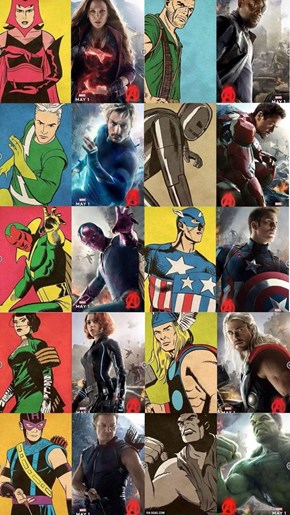 Avengers Poster vs. The Original