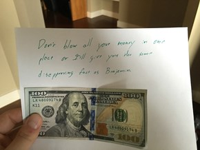 It's All About the Disappointed Benjamins