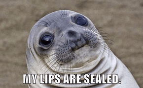 MY LIPS ARE SEALED.