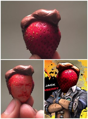Photoshoppers Celebrate One Very Photogenic Strawberry