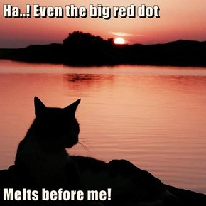 Ha..! Even the big red dot  Melts before me!