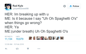 Uh Oh It's Spaghetti Over