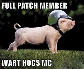 FULL PATCH MEMBER  WART HOGS MC
