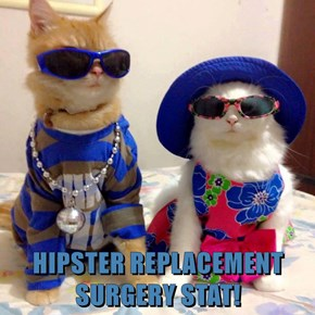 HIPSTER REPLACEMENT SURGERY STAT!