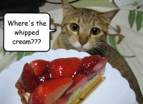 Where's the whipped cream???