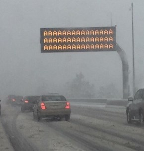 Clutch Sign During A Snowpocalypse