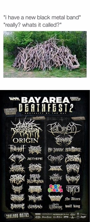 I've Never Once Been Able to Understand a Metal Show Poster