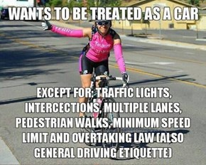 Make Up Your Mind, Cyclists