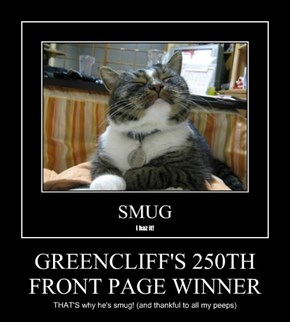 GREENCLIFF'S 250TH FRONT PAGE WINNER