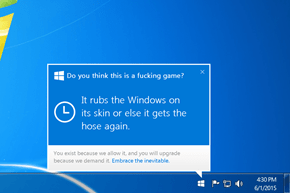Pushy Microsoft