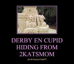 DERBY EN CUPID HIDING FROM 2KATSMOM