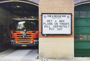 This Australian Fire Station Is Putting It's Sign to Good Use