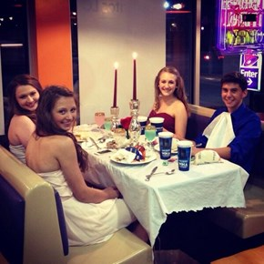 This Total Boss Took Three Girls to Taco Bell for Homecoming Dinner