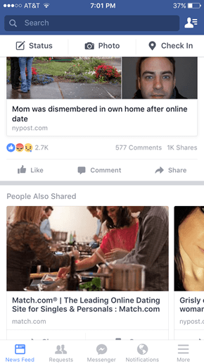 Facebook Advertisement at Its Finest