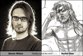 Steven Wilson Totally Looks Like Bestial titan