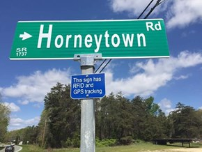 At Least When Kids Steal Your Street Sign You'll Know Where to Find It