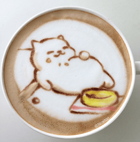 Neko Atsume Latte Art Is Almost Too Cute to Drink