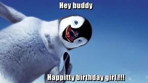 Hey buddy                                    Happitty birthday girl,!!!