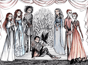 Amazing Artist Reimagines the Game of Thrones Characters in the Style of Tim Burton