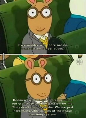 Arthur Coming in With That Brutal Wisdom
