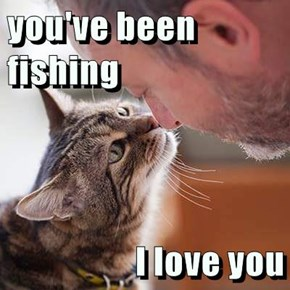 you've been fishing   I love you