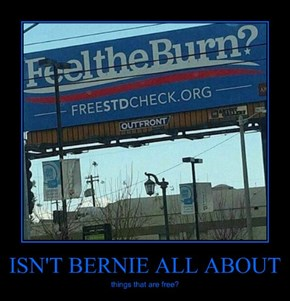 ISN'T BERNIE ALL ABOUT